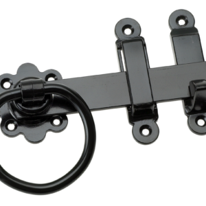 150mm BLACK RING GATE LATCH
