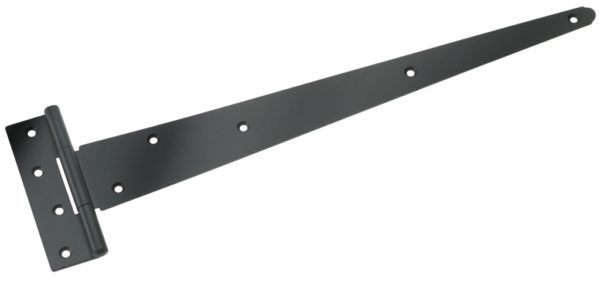 450MM BLACK HEAVY TEE HINGE C/W FITTINGS