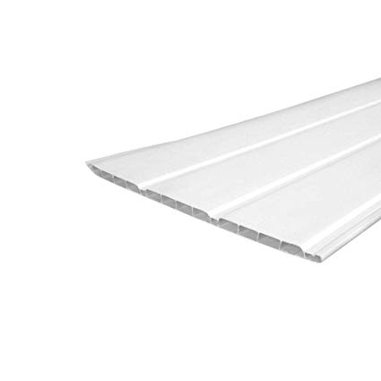 300MM WHITE PVC HOLLOW CLADDING 5 METRE